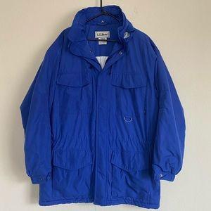 Men's Vintage LL Bean Blue Winter Ski Coat Size L